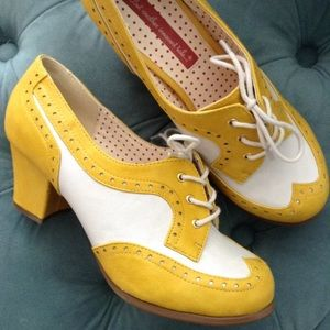 vintage style BAIT heeled wingtip shoes modcloth 8